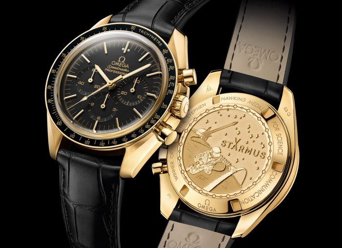 Omega Speedmaster Moonwatch Professional Chronograph Starmus Science Award Gold