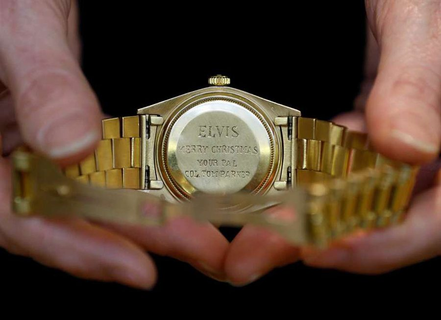"Elvis' Rolex was engraved with the message ""Elvis. Merry christmas your pal Col. Tom Parker"""