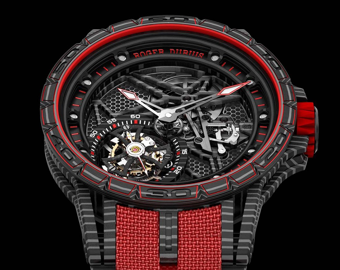 Roger Dubuis Excaliburn Spider Carbon Skeleton Flying Tourbillon