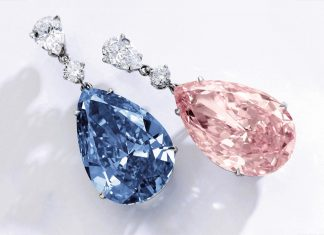 The Apollo Blue & The Artemis Pink Diamond Earrings