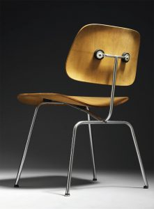 DCM chair, designed by Charles and Ray Eames (1947) © Eames Office, LLC