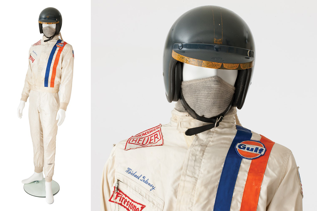 Racing Suit and Helmet worn by Steve McQueen in Le Mans