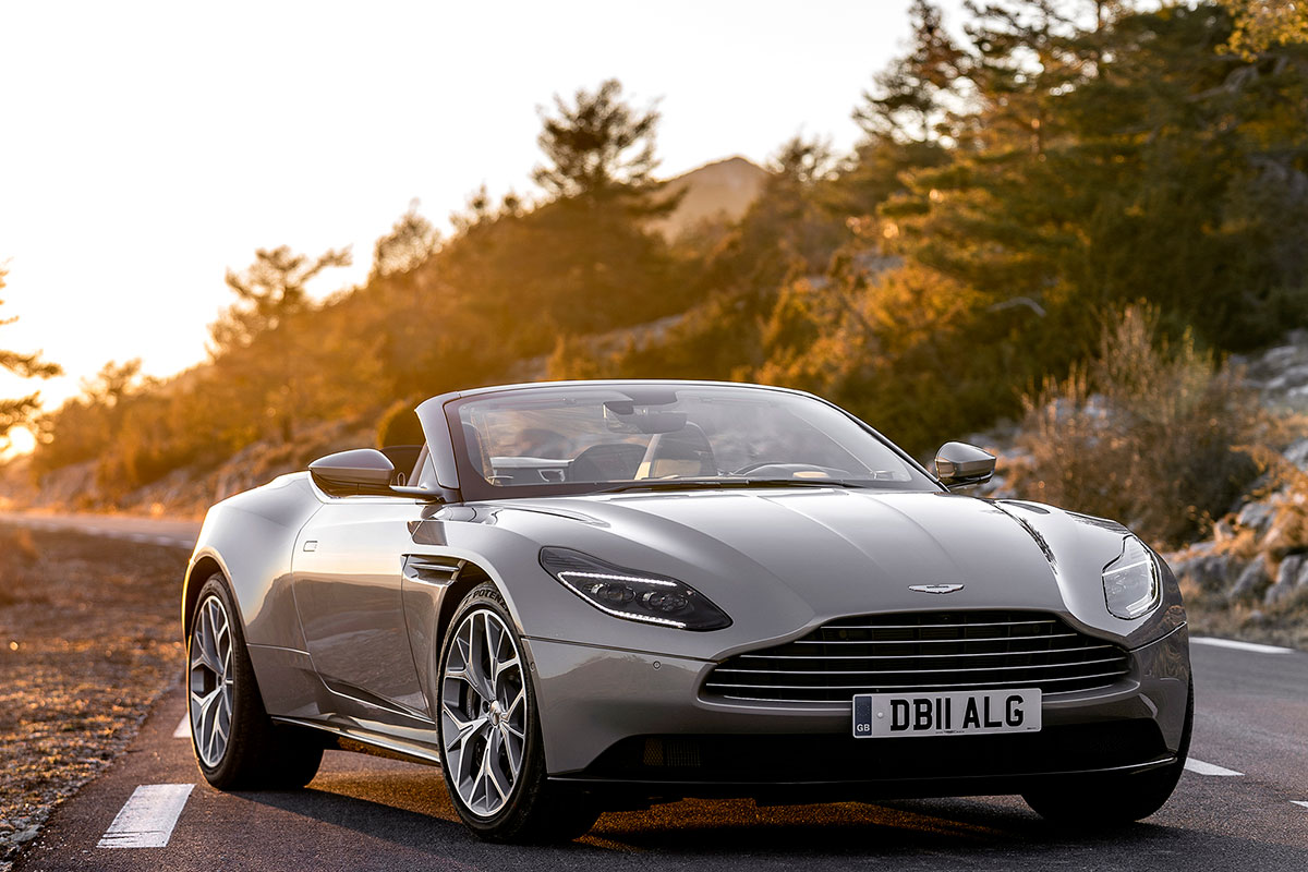 aston martin db11 volante review oracle time. Black Bedroom Furniture Sets. Home Design Ideas