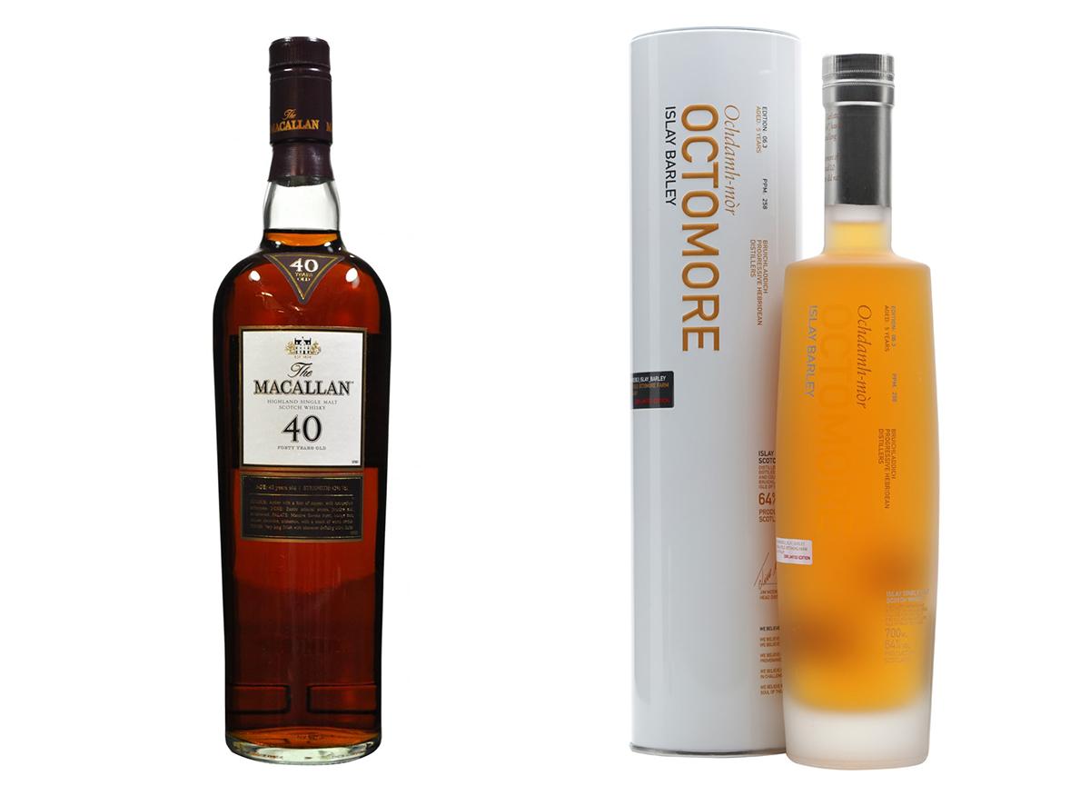 Macalllan Whisky & Bruichladdich Islay Barley Octomore
