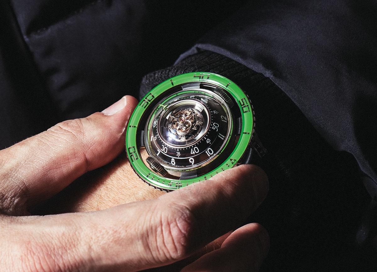 MB&F HM7 Aquapod Green Titanium