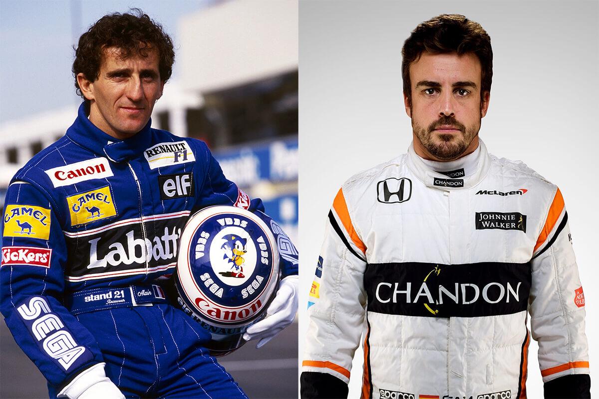 Alain Prost Fernado Alonso