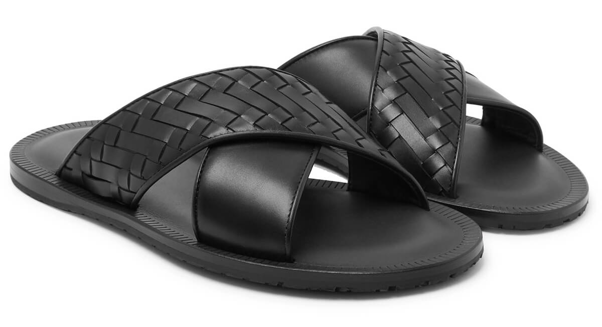 Bottega Veneta Intrecciato Leather Sandals