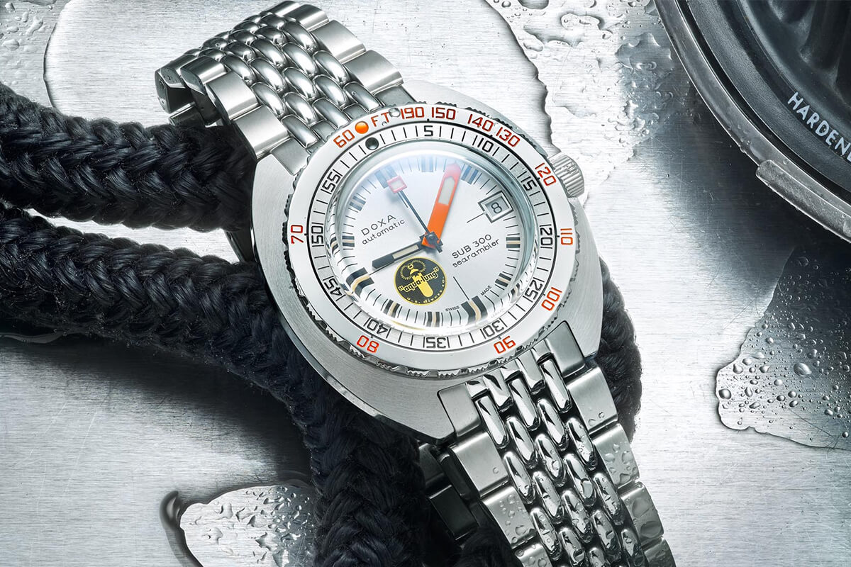 Doxa SUB 300 Searambler 'Silver Lung' Re-Issue Dive
