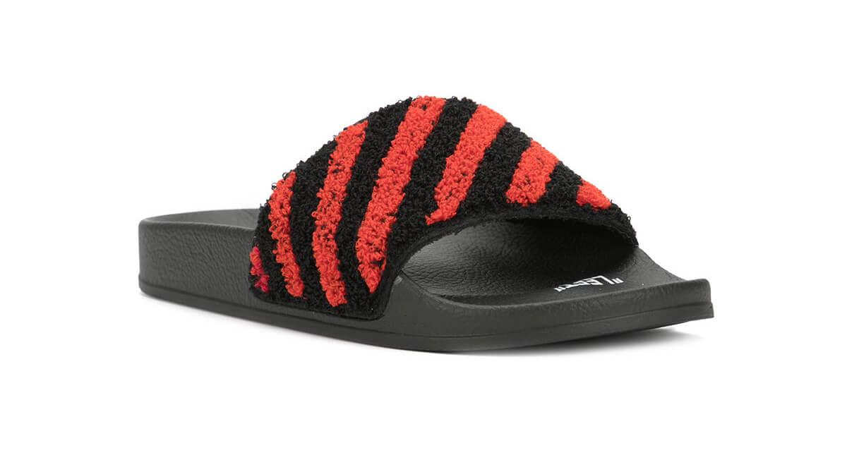 Off-white Striped Slide Sandals