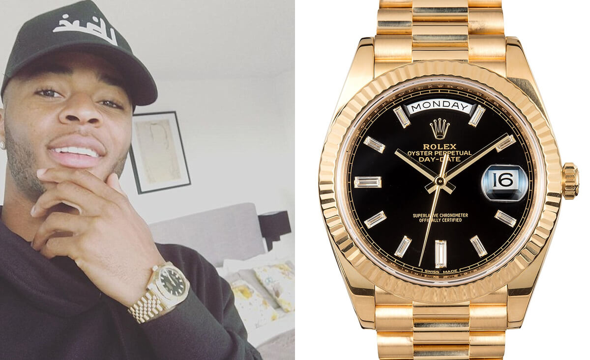 Raheem Sterling - Attacking Midfield - Rolex Oyster Perpetual Day-Date II Gold