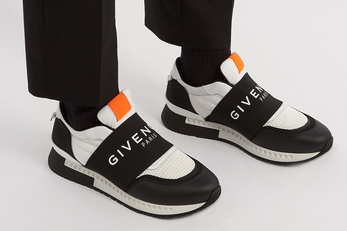 Givenchy Runner Active Low-Top Mesh Suede Trainers