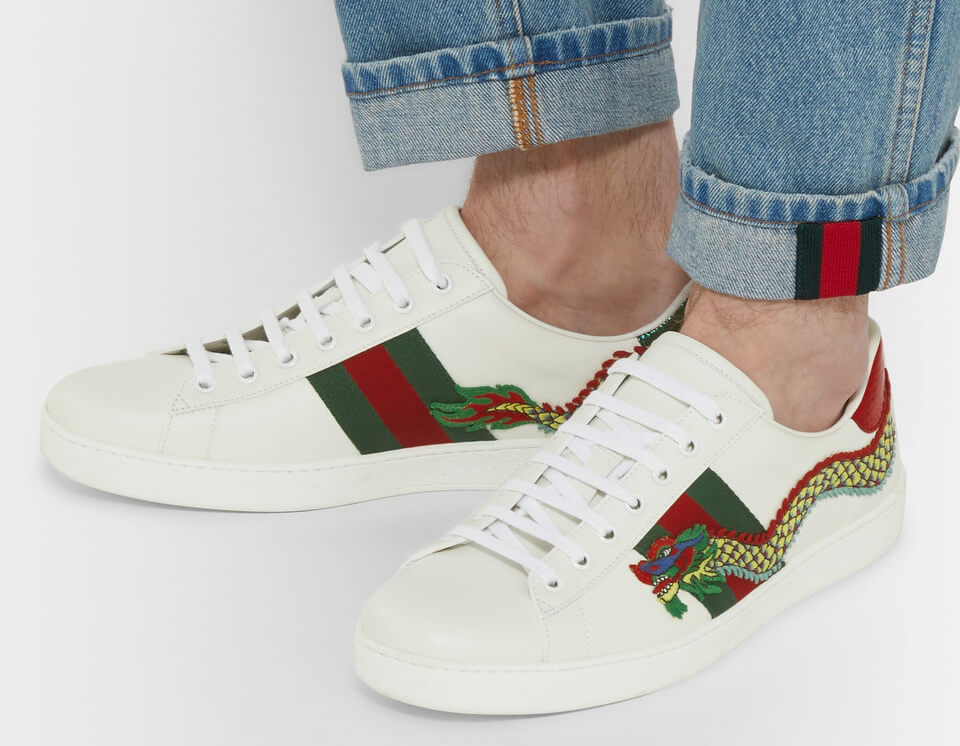 Gucci Ace Watersnake Sneakers