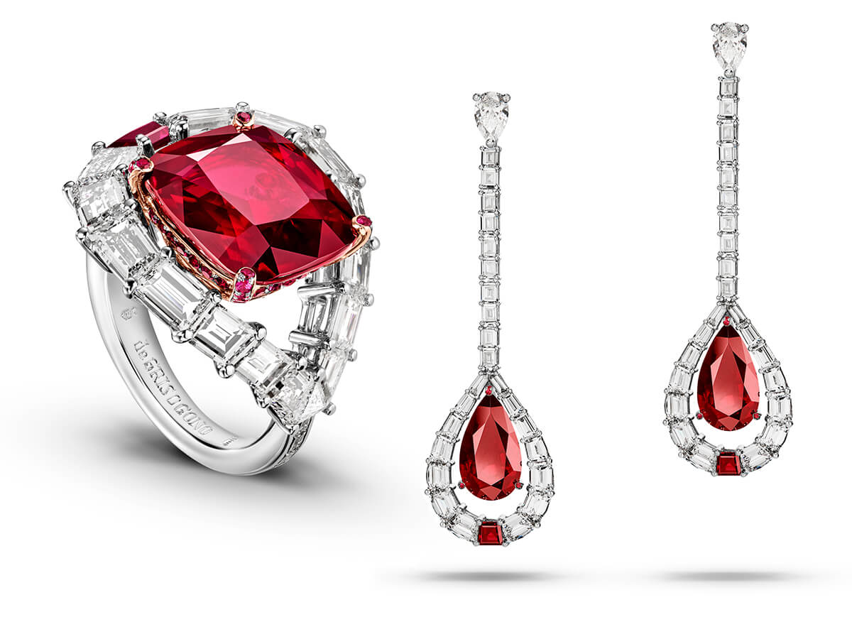 de Grisogono High Jewellery ring & earring