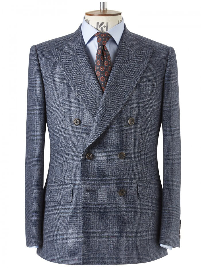 Chester Barrie Heavy Flannel Prince of Wales Check Suit