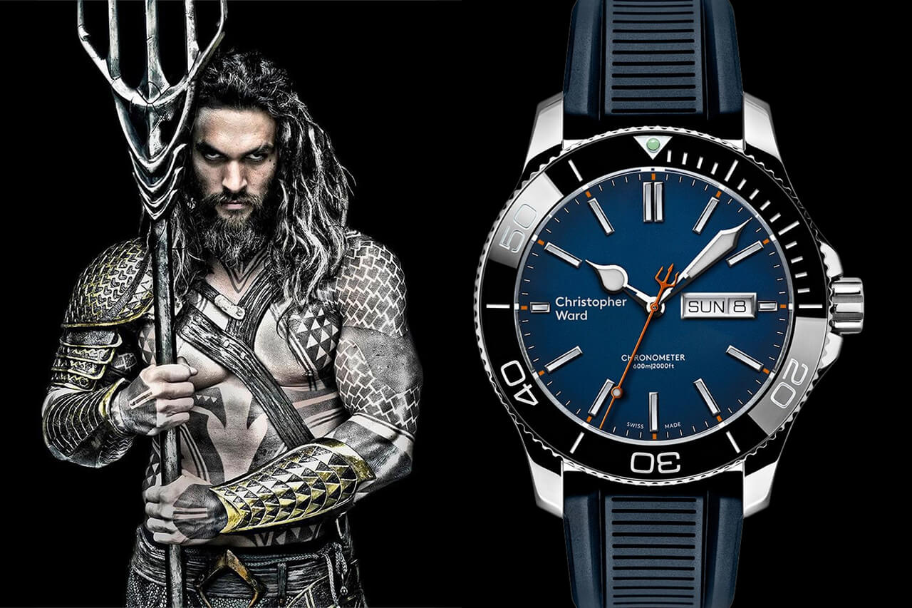 Aquaman Jason Momoa Christopher Ward C60 Trident Acan COSC Limited Edition Watch