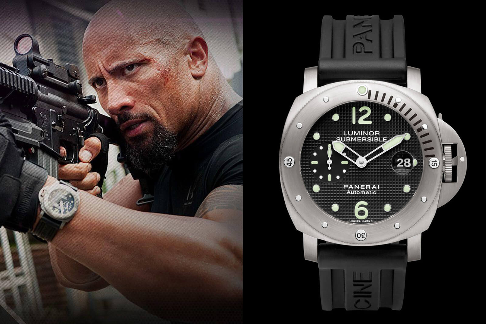 Dwayne Johnson Panerai Luminor Submersible