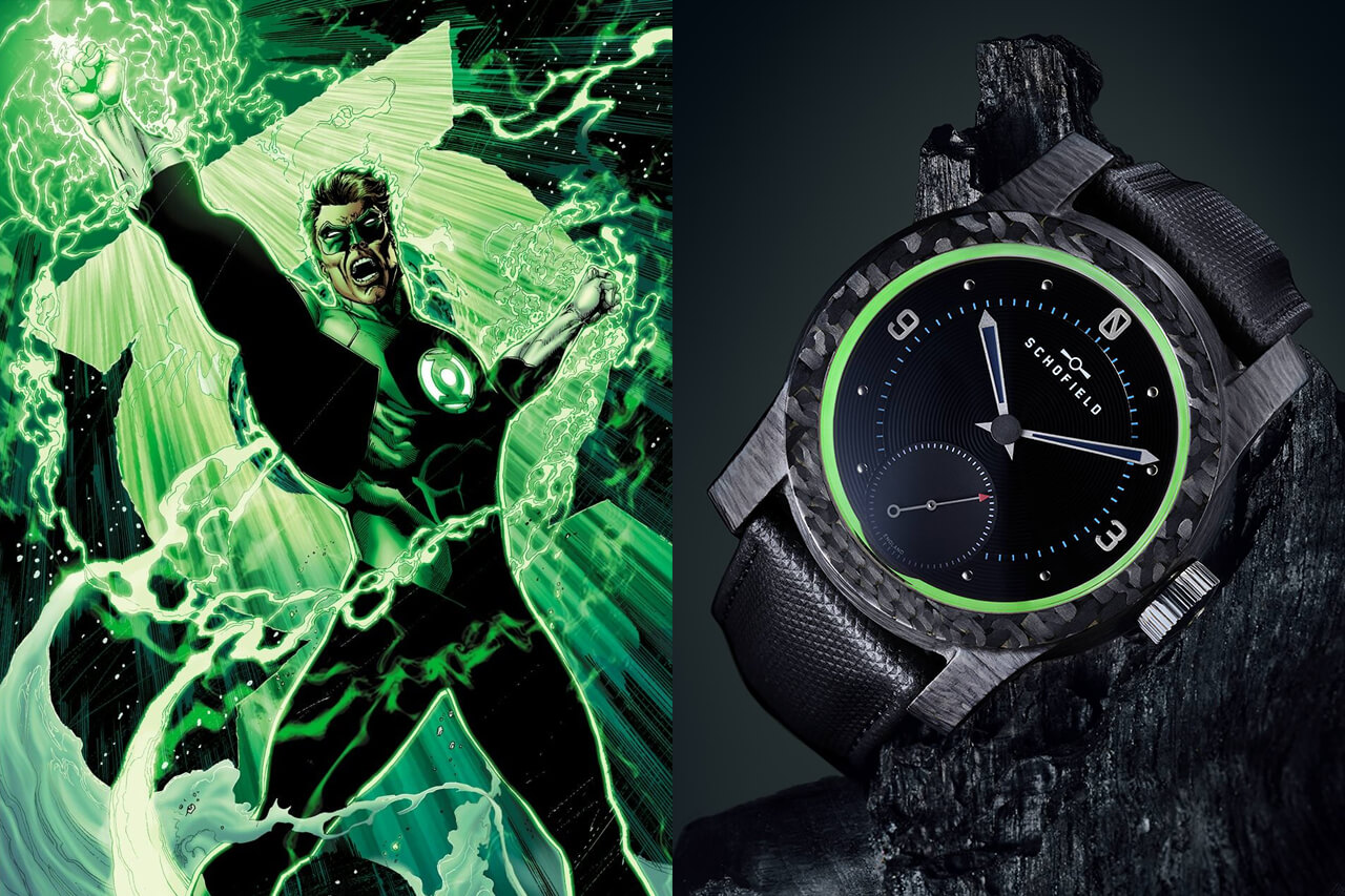 Green Lantern Schofield Blacklamp Carbon Watch