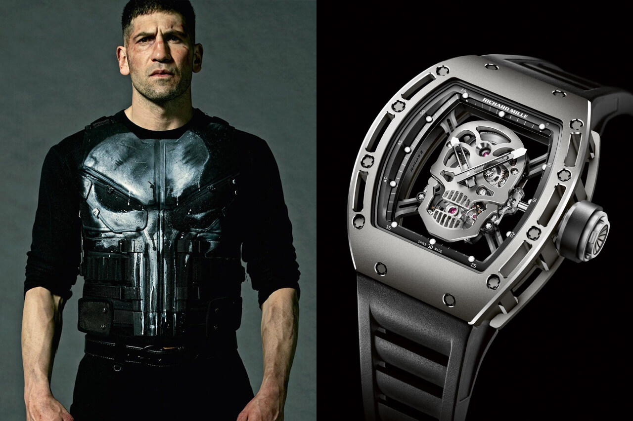 The Punisher Jon Bernthal Richard Mille RM-052 Tourbillon Skull Watch