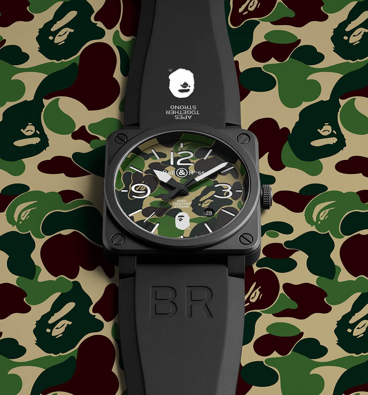 A Bathing Ape x Bell & Ross BR 03-92 Watch