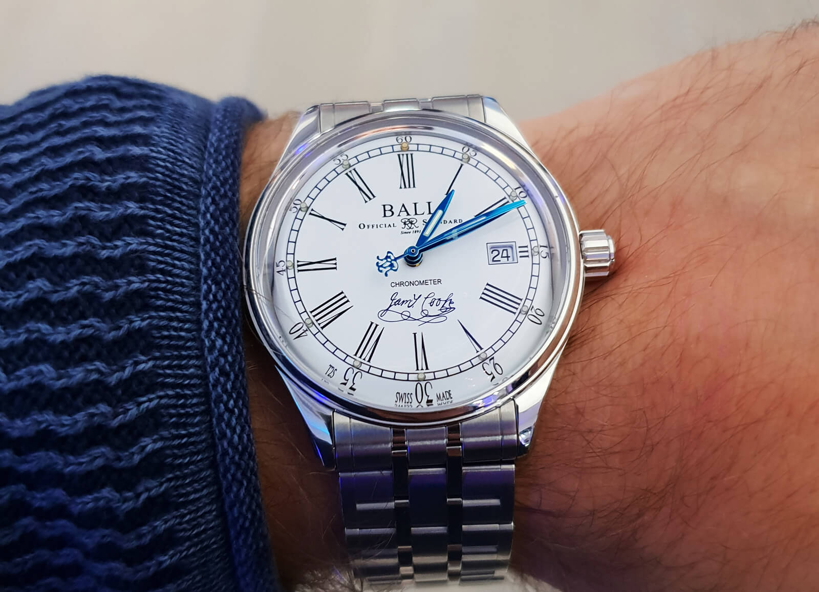 Ball Trainmaster Endeavour Chronometer Watch