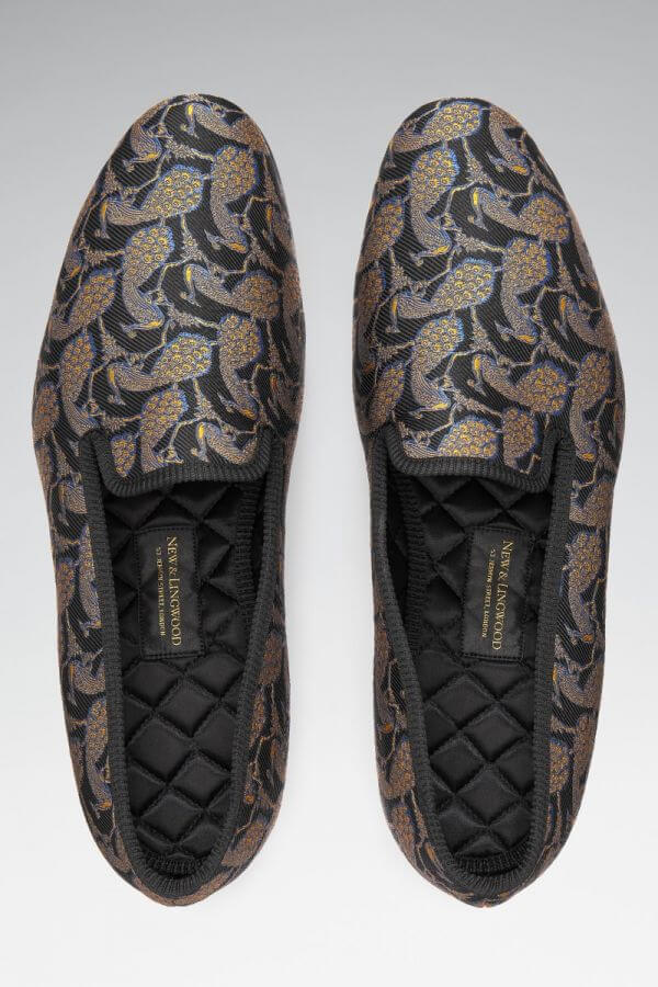 New & Lingwood Small Peacock Slippers