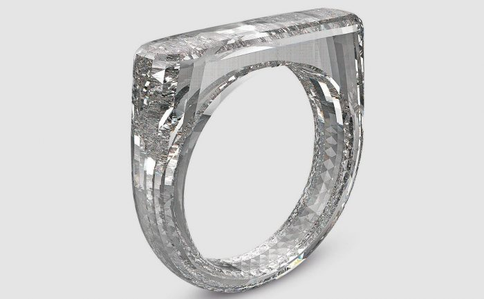 (Red) Diamond Ring from Diamond Foundry