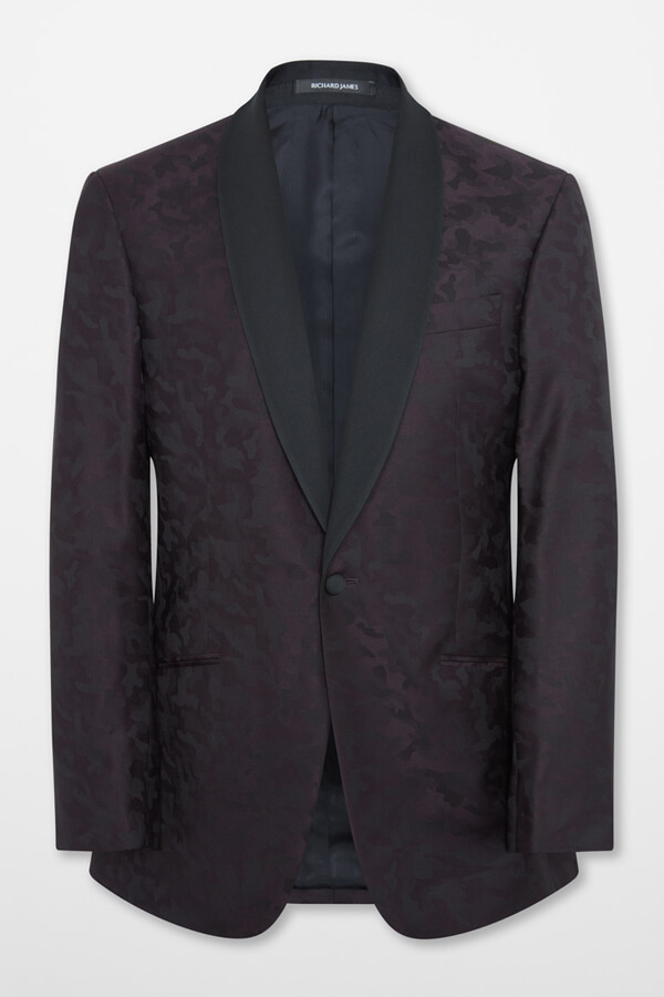 Richard James Evening Suit in Jacquard Camouflage