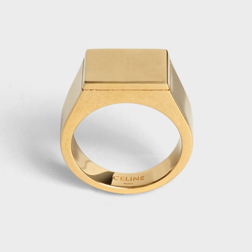 Celine Simple Forms Square Signet Ring