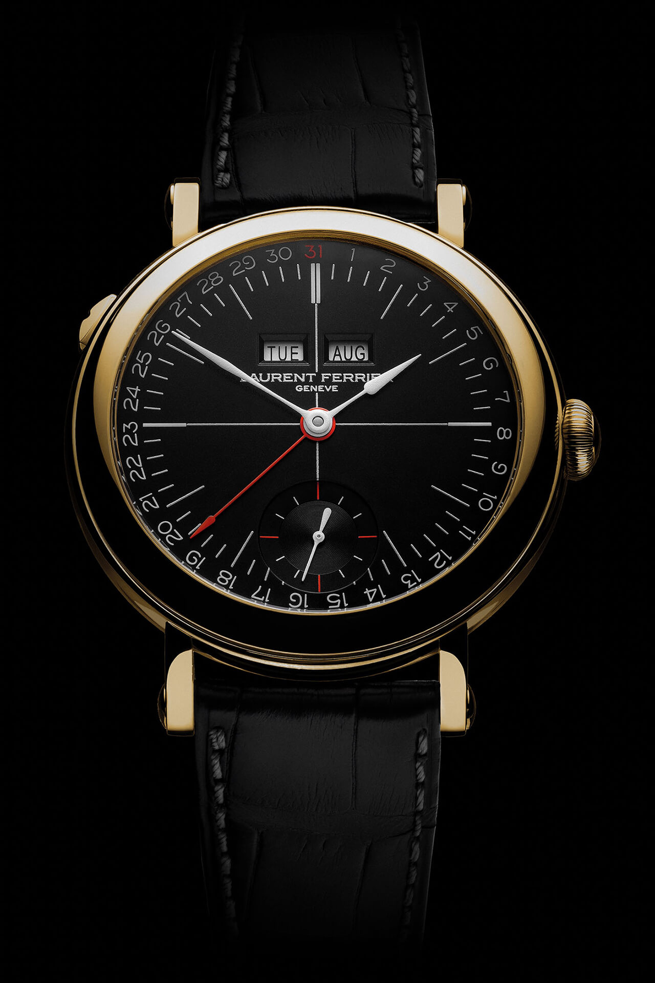 Laurent Ferrier Galet Annusl Calendar School Piece Opaline Black