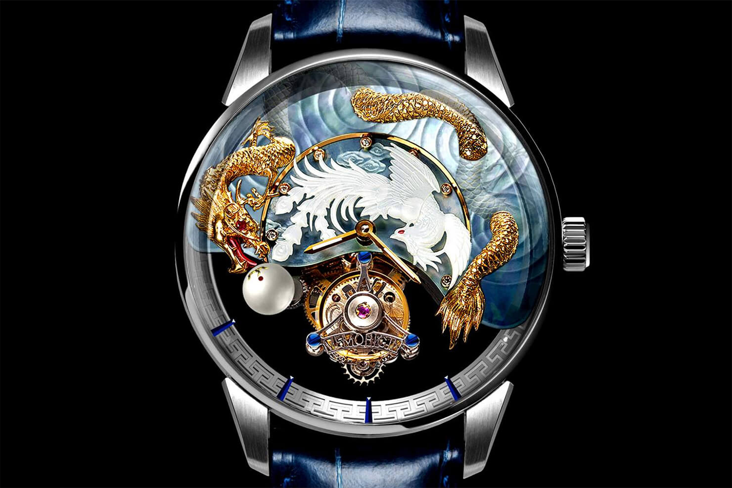 "Memorigin ""Harmony of Dragon and Phoenix"" Tourbillon Watch"