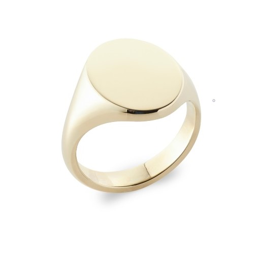 Rebus Oxford Oval Signet Ring