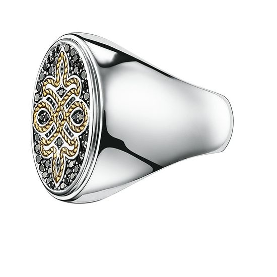 Thomas Sabo Diamond Love Knot Signet Ring