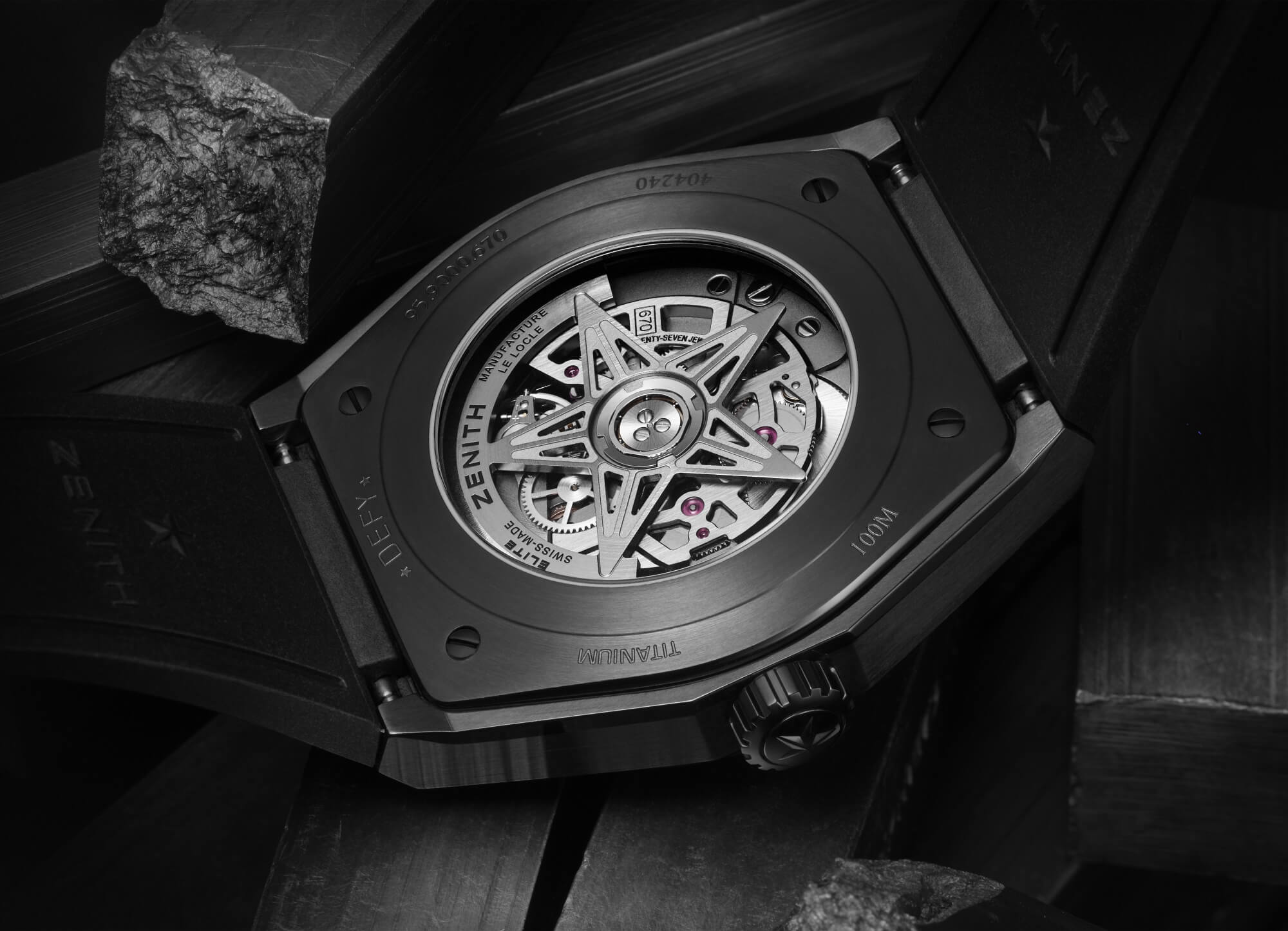 Zenith Defy Classic Black Ceramic Watch Caseback
