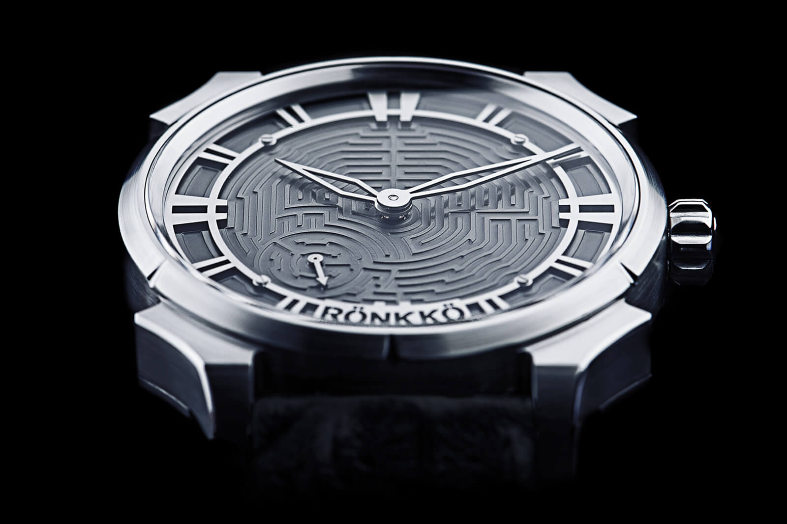 Rönkkö Steel Labyrinth Watch