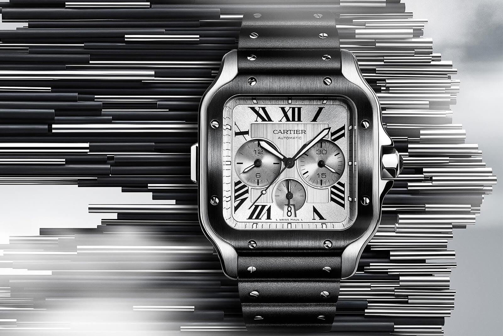 9449e6e97 Introducing the Santos de Cartier Chronograph and Squelette ...