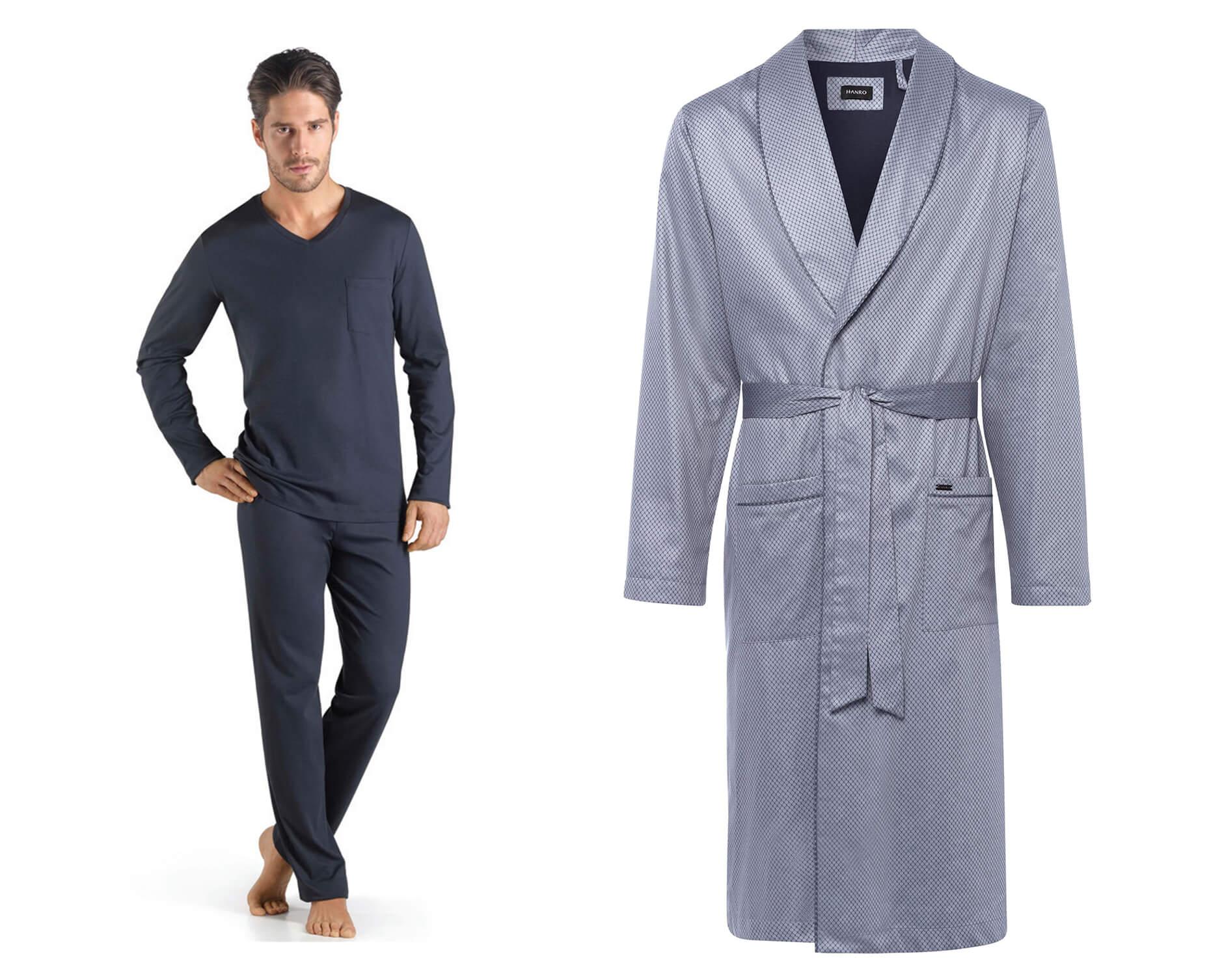 Hanro Sea Island Cotton Long Sleeved Pyjamas Jonas cotton robe