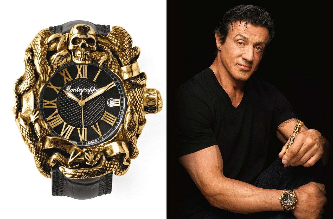 Sylvester Stallone Montegrappa Chaos Gold Watch