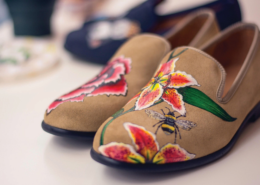 Duke & Dexter Hand Painted Loafers