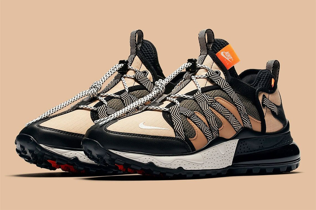 Nike Air Max 270 Bowfin Mesh and Nylon Sneaker