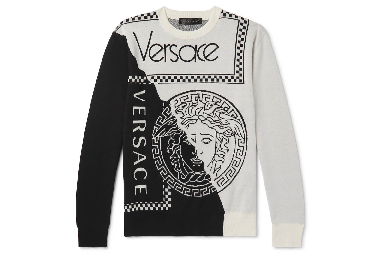 Versace Cotton & Wool Logo Sweater