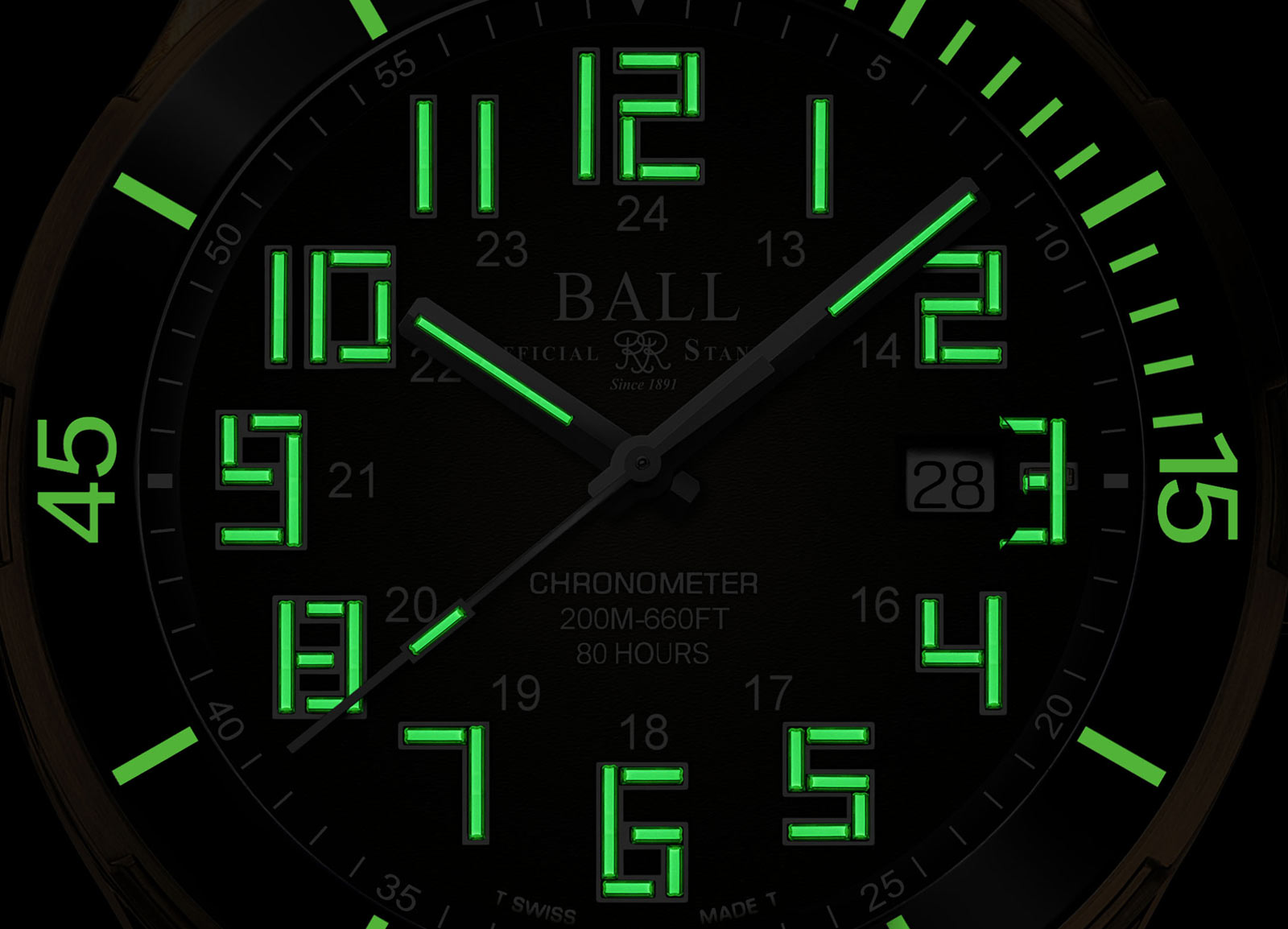Ball Watch Co Roadmaster StarLight Bronze Dive Watch