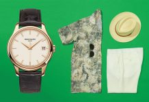 Watch Style Patek Philippe Calatrava Watch Etro Camp Collar Printed Linen Shirt