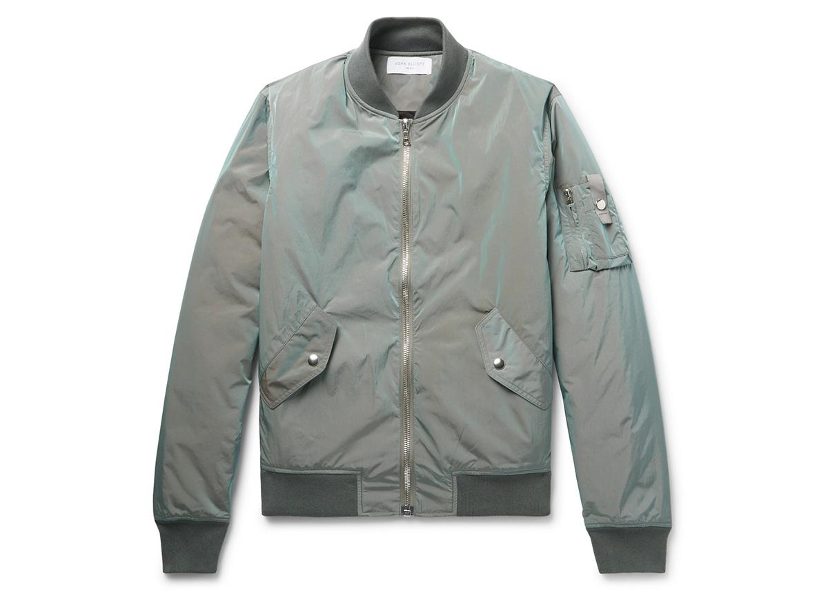 John Elliott Iridescent Bomber Jacket