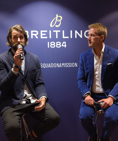 Ben Fogle and the inimitable David de Rothschild – at its Bond Street store to launch its new limited edition watch, the Superocean Heritage II Ocean Conservancy
