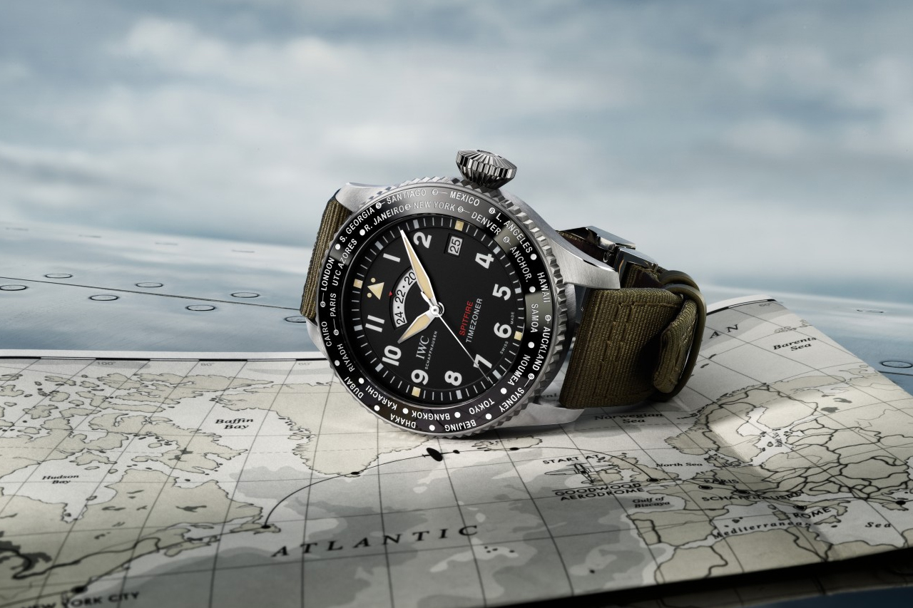 "IWC Schaffhausen Timezoner Spitfire Aviator ""The Longest Flight"" Edition"