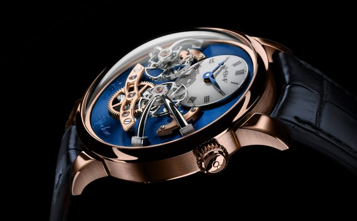 MB&F Legacy Machine No.2 Red Gold Blue Watch