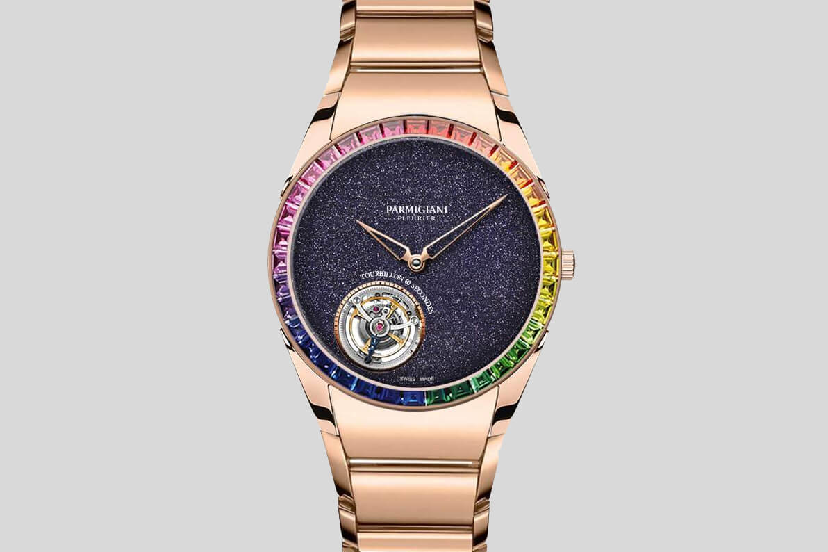 Parmigiani Fleurier Tonda 1950 Tourbillon Rose Gold Rainbow Galaxy