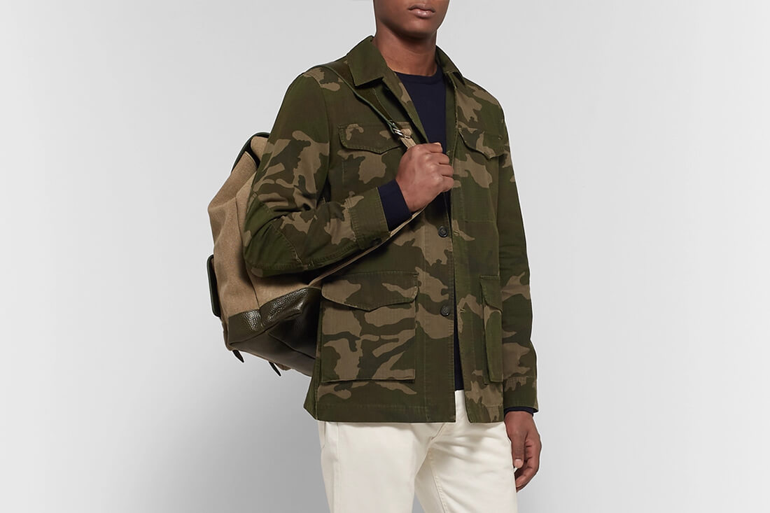 Officine Generale Camoflage-Print Cotton and Nylon-Blend Ripstop Jacket