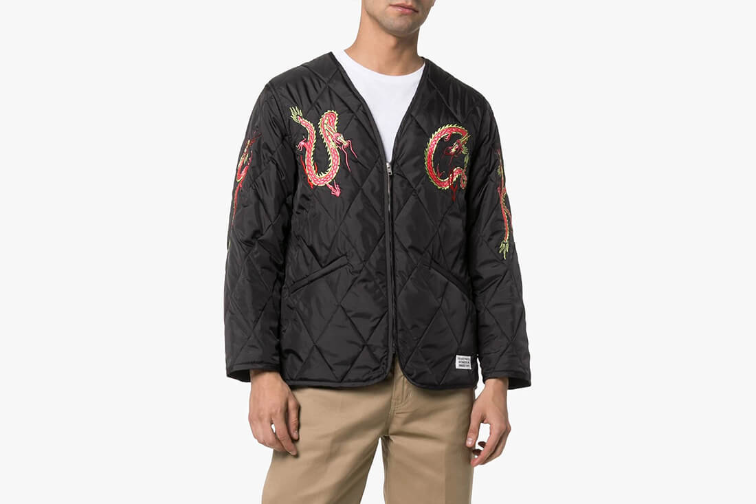 Wacko Maria Dragon Embroidered Quilted Jacket