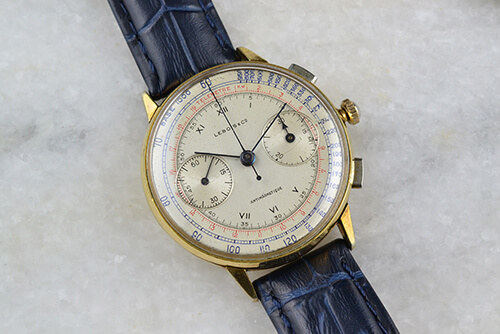 Lebois & Co 1940s Chronograph Antimagnetique Telemetre
